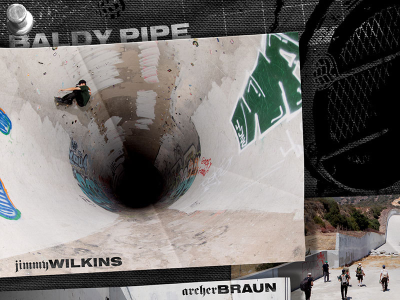 Jimmy Wilkins, Shea Donavan & Archer Braun let us jump in their truck for a trip starting in the full pipe at Baldy and ending with a camp out on a vert ramp in the jungle.